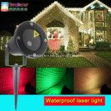 Weihnachtslaserlicht-im Freien rotes grün-blaues Bewegungs-Stern-Projektor-Laserlicht