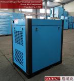 Compresseur d'air rotatoire réglable de vis de fréquence magnétique permanente double