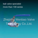 Steel di acciaio inossidabile Ball Valve 2PC Threaded Female Estremità Ball Valve CF8m 1000wog
