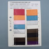 Couro de superfície liso do plutônio do Synthetic para o empacotamento decorativo da sapata do saco