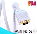 Câble du VGA du bleu 3+9 de qualité