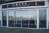 Хозяйственная прочная автоматическая стеклянная раздвижная дверь для коммерчески здания