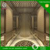 304 de Cabine van de Lift van het Decor van het Blad van het roestvrij staal van Hermessteel