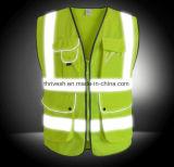Maglia riflettente di sicurezza di alta visibilità standard dell'Ue con il sacchetto di auto