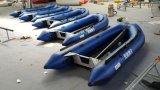 Barco inflável do esporte do barco de enfileiramento do barco 12.4FT 3.8m do Canto com o assoalho de alumínio com CERT do Ce