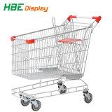 Supermercado de estilo europeu carrinhos de compras galvanizado