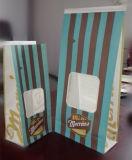 Fenster-Packpapier-Beutel mit Zinn-Gleichheit-Griff
