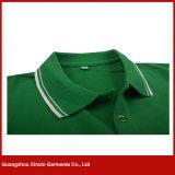 Habillement court personnalisé de chemises de polo de Mens de coton de chemise (P176)
