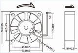 50mm Kühlventilator Gleichstrom-5015 50X50X15mm 12V mit 3wire PWM Funktion