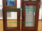 Wood Trim & Architraves pour fenêtre en acier inoxydable en bois massif, fenêtre battante avec la technologie de soudage la plus avancée