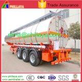 Suspension de l'air en aluminium semi-remorque-citerne de mazout pour le camion