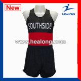 Healongの上の販売のスポーツ・ウェアのジャージーを実行するカスタム昇華印刷
