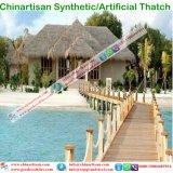 Synthetisch met stro bedek Paraplu van het Strand van de Bungalow van het Water van het Plattelandshuisje van de Staaf Tiki/van de Hut Tiki de Synthetische Met stro bedekte