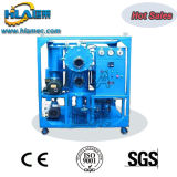 Le double présente la machine de filtre à huile de transformateur de vide poussé