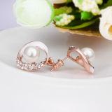 Покрынное золото Rose ювелирных изделий женщин перлы серег женщин способа перлы сплава цинка имитационное