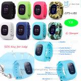 Montre de vente chaude de traqueur des gosses GPS avec la couleur Y2 de camouflage