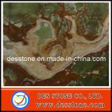 Azulejo verde de piedra natural del mármol de la losa del jade (DES-MT019)