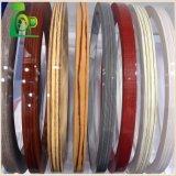0.5-2mm couleur/solides de haute qualité du grain du bois/patterns de bandes de chant en PVC