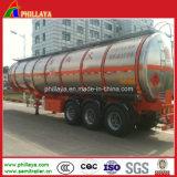 Tri Welle 50000 Liter Kraftstofftank-halb LKW-Schlussteil-Benzin-Tanker-