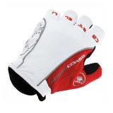 Мотоцикл перста высокого качества White&Red половинный участвуя в гонке перчатка (MAG49)