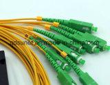 1*2 1*4 1*8 1*16 1*32 Sc/APC 연결관을%s 가진 강철 관 유형 광섬유 PLC 쪼개는 도구 0.9mm G657A