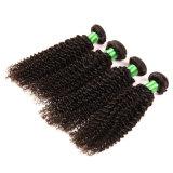 Do Afro não processado Curly Kinky Curly brasileiro do Weave do cabelo humano de Remy do lote do cabelo 3PCS/do Virgin do cabelo do Virgin da classe 7A cabelo Curly Kinky