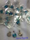 De Blauwe Opalen Echte Zilveren Tegenhanger van de voorraad (YP00603)