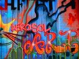 Arte de graffiti pintura en aerosol