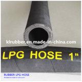 Boyau à haute pression tressé de LPG en caoutchouc de fil d'acier