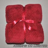 Супер мягкий и Дышащий сетчатый дизайн коралловых флис одеяло.