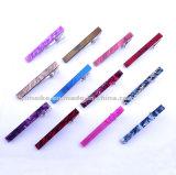 Usine simple et coloré de promotion de l'acrylique Tie clips ressort métallique
