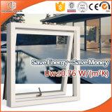 Wood-Alu Casement Ventana para África Villas, lleno de luz dividida la rejilla de aluminio revestido de madera de Casement Windows