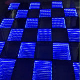 Partido, Diodo Emissor de Luz Dance Floor do DJ Lighting 3D Mirror Tempo Tunnel