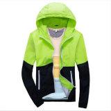 Куртка спортов боковины из цветного каучука контраста способа для одежд человека