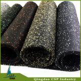 Atacado Eco-Friendly Recycle Rubber Mat Rolls com pontos coloridos