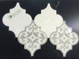 공장 도매 아름다운 꽃 모양 백색과 회색 대리석 돌 모자이크 타일