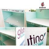 Presentación de cartón de estantería de estantería de supermercado de un solo lado para Surpermarket