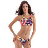 Reizvoller bunter Drucken-Bikini 2017 heißer Verkaufs-Sommer-Frauen