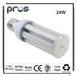 3 años de la garantía 24W LED de luz IP64 del maíz