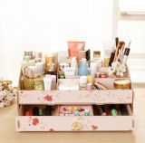 Joyas de madera de alta calidad y estética de verificación, Fino bricolage cuadro cosméticos