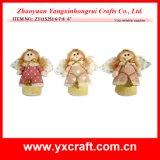 Decorazione felice del punto di angelo della ragazza di natale artificiale di angelo di natale della decorazione di natale (ZY11S251-6-7-8)