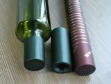 dunkelgrüne Glasflasche des olivenöl-1L mit Tülle-Schutzkappe und Shrink-Hülse