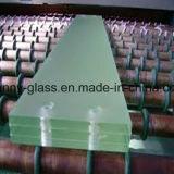 porta do vidro laminado de 10-15mm, entalhe personalizado da dimensão, o transparente e geada, da dobradiça e do parafuso