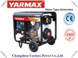 Groupe électrogène diesel simple refroidi par air de bâti ouvert de moteur diesel de cylindre de Yarmax Ym3500ea Genset