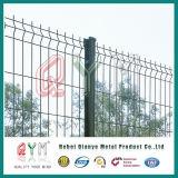 PVCは二重金網の塀によって溶接された金網の塀のパネルに塗った