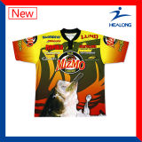 Haut de la vente de vêtements de sport Healong UV-T-Shirt sublimation de la protection de la pêche