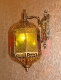 Iluminación de cobre de la pared Pw-19347 con decorativo de cristal