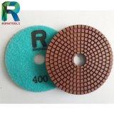 Almofadas de polimento de diamante molhado para pavimento / mármore / granito / polimento de pedra