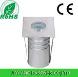 1W Mini LED Underground Lights mit Square Cover, IP67
