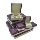 リングのイヤリングの腕時計のネックレスの収納箱の箱の卸売のJy-Jb51カスタムペーパー革木の宝石類の包装ボックス